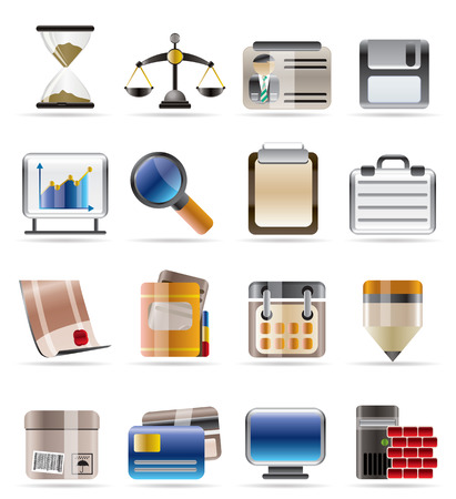 Realistic Business and office vector icon set Vector