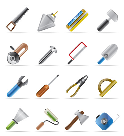 Construction Tools - Vector Icon Set Stock Vector - 4641262