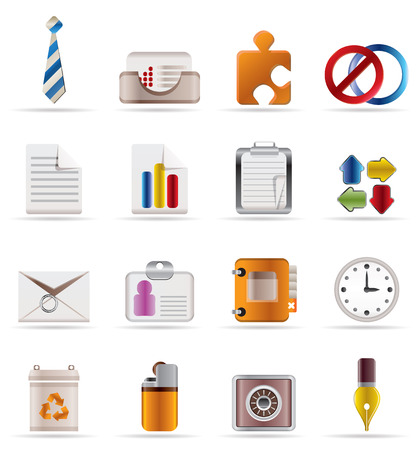 Realistic Business and Office Icons Stock Vector - 4641259