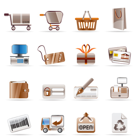 Online Shop icons - Vector Icon Set Stock Vector - 4673455
