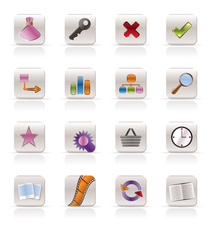 Internet and Web Site Icons - Vector Icon Set Vector