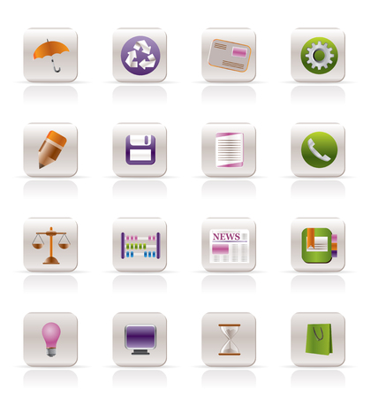 Business and Office internet Icons - Vector icon Set Stock Vector - 4721128