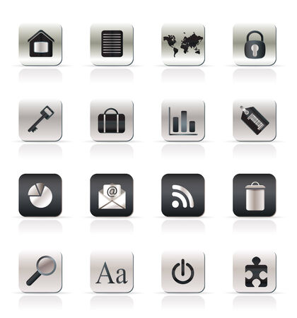 Realistic Business and Internet Icons - Vector Icon Set Stock Vector - 4721126