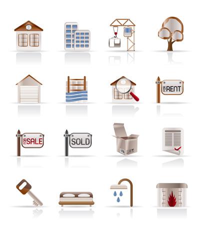 Real Estate - Vector Icon Set Stock Vector - 4721129