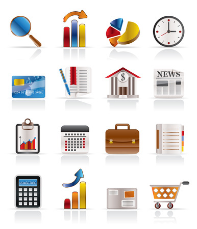 Business and Office Realistic Internet Icons - Vector Icon Set 3 Stock Vector - 4721127