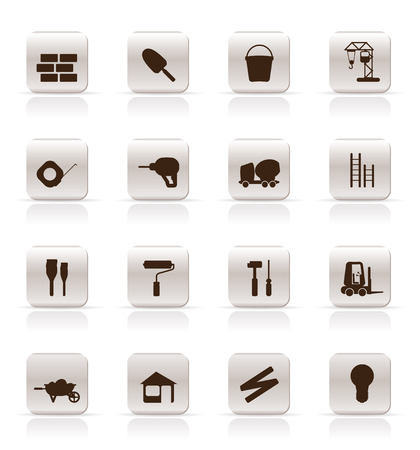 stepladder: Construction and Building Icon Set. Easy To Edit Vector Image
