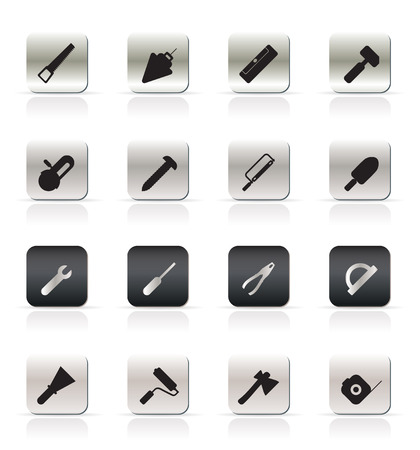 Construction Tools - Vector Icon Set Stock Vector - 4737067