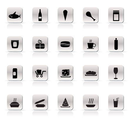 Shop and Foods Icons - Vector Icon Set Stock Vector - 4737066