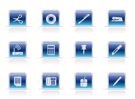 Office Tools Icons - Vector icon set Vector