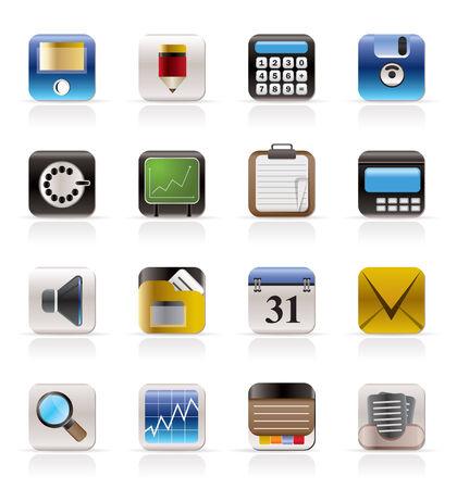 Business, Office e Finanza Icone - Vector Icon Set