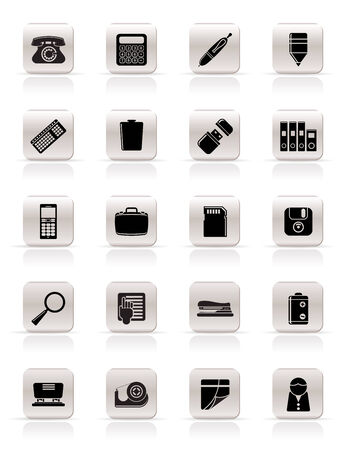 Office tools Icons vector icon set 3 Stock Vector - 4786947