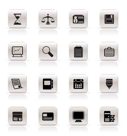 Business and office  Icons  icon vector set Stock Vector - 4847082