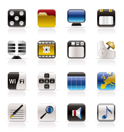 Phone  Performance, Internet and Office Icons - Vector Icon Set  Vector