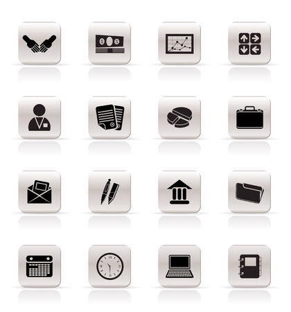 Simple Business and office icons - Vector Icon Set Vector