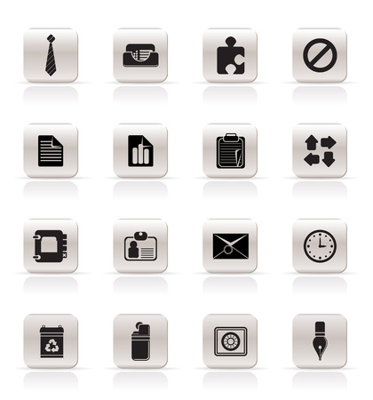 Simple Business and Office Icons - Vector Icon Set Stock Vector - 4847081