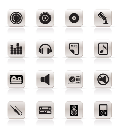 Simple Music Icons Vector Icon Set Vector