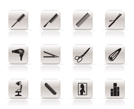 hairdressing, coiffure and make-up vector icon