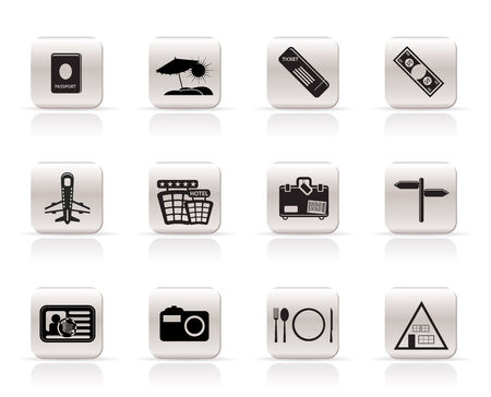 Simple Travel Icons- Vector Icon Set Stock Vector - 4909407
