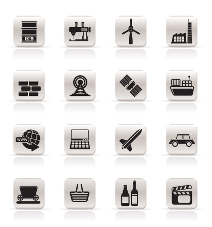 mine site: Simple Business and industry icons - Vector Icon Set
