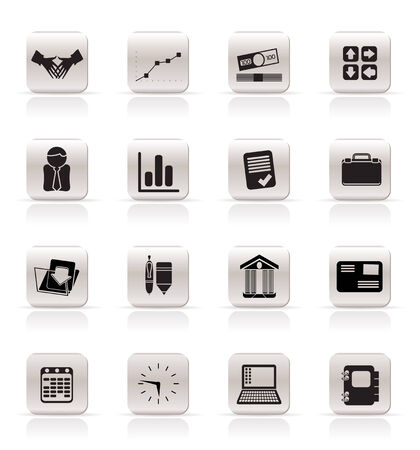 Simple Business and Office icons - Vector Icon Set Stock Vector - 4909413