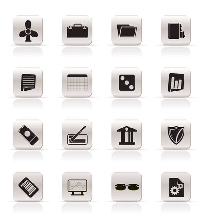 Simple Business and Office Icons - Vector Icon Set 2 Stock Vector - 4909411