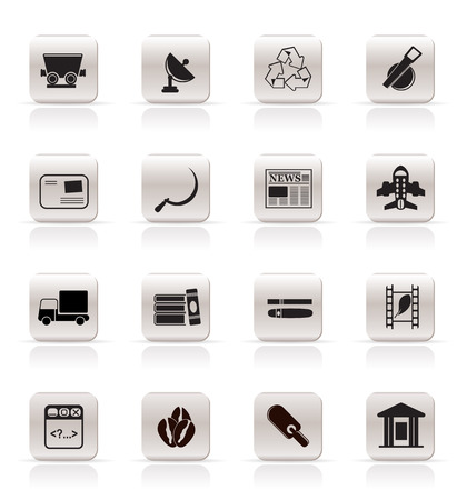 Simple Business and industry icons - Vector Icon set 2 Stock Vector - 4909416