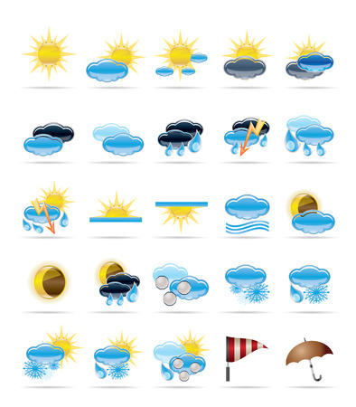 Weather icons - Vector Icon Set Vector