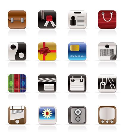 quadratic: Iconos de negocios e Internet - Vector Icon Set