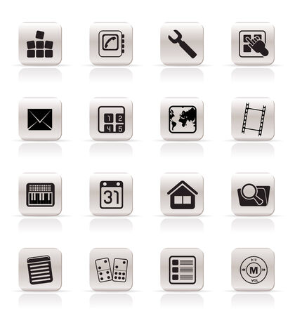 Simple Mobile Phone and Computer icon - Vector Icon Set Vector