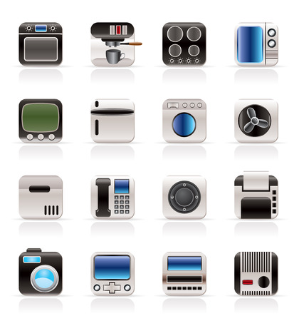 Home and Office, Equipment Icons - Vector Icon Set Vector