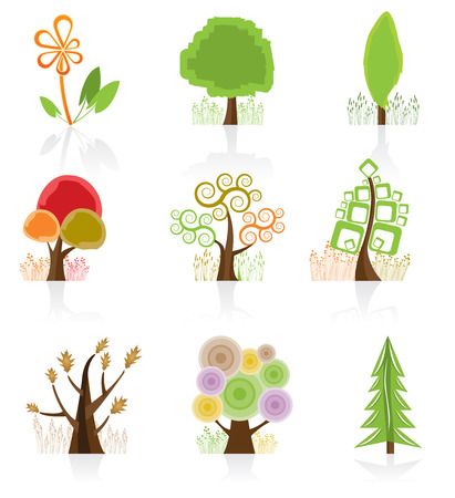 bonsai: Tree Collection Illustration