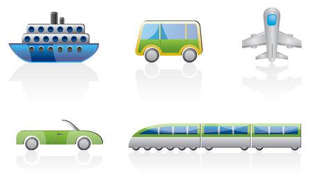 transportation icon set Stock Vector - 4973392