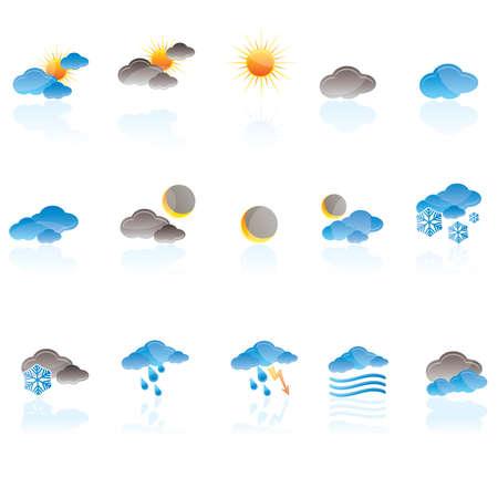 Weather icon set Vector