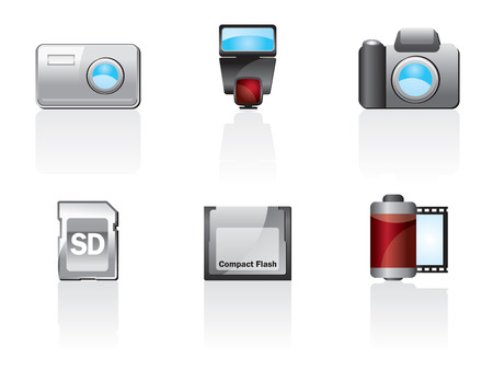 Photo Icon Set One. Easy To Edit Vector Image Vector