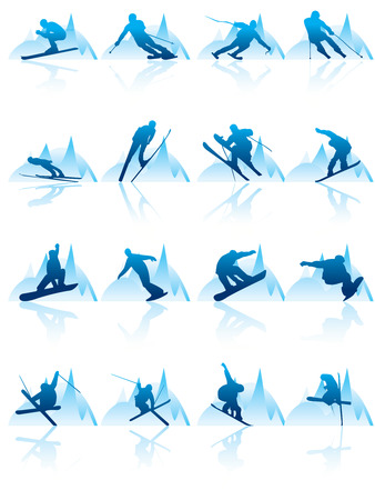 ski and snowboard icon Stock Vector - 4996560