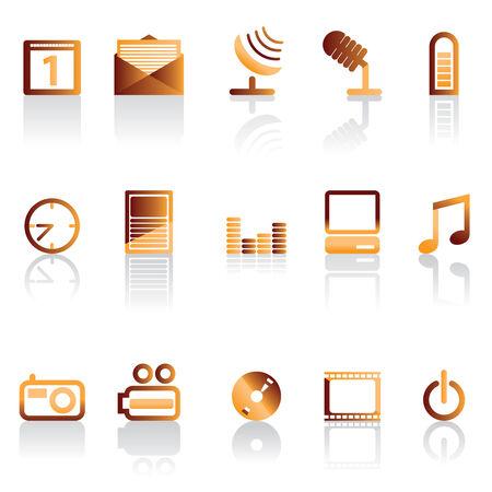 watch video: phone icon performance Illustration