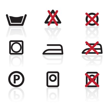 dishwashing liquid: Laundry Care Symbols