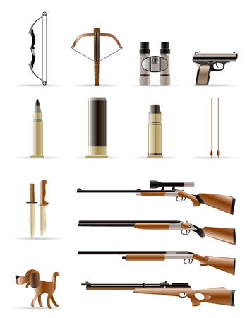 shaft: Hunting Icons - Vector Icon Set