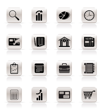 statistic: Simple and Office Realistic Internet Icons - Vector Icon Set 3 Illustration