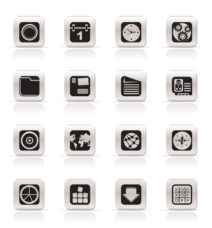 Simple Mobile Phone, Computer and Internet Icons - Vector Icon Set Stock Vector - 5047149