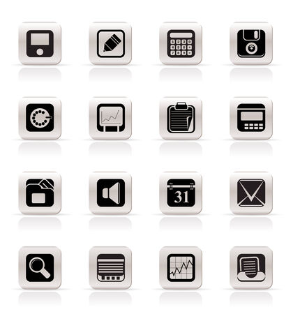 Simple Business, Office and Finance Icons - Vector Icon Set Stock Vector - 5047146