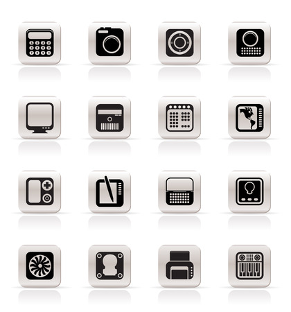 Simple Business, Office and Finance Icons - Vector Icon Set Vector
