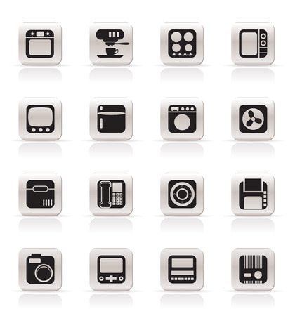 Simple Home and Office, Equipment Icons - Vector Icon Set Vector