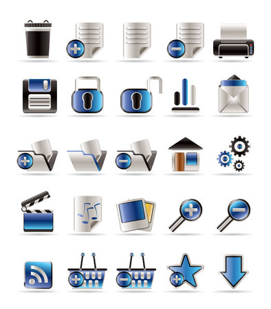 delete icon: 25 Realistic Detailed Internet Icons - Vector Icon Set Illustration