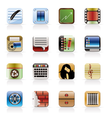 Business, Office and Mobile phone icons - Vector Icon Set Stock Vector - 5185635