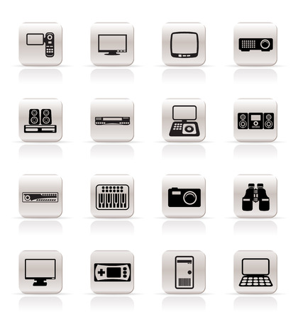 Simple Hi-tech equipment icons - vector icon set 2 Stock Vector - 5185632