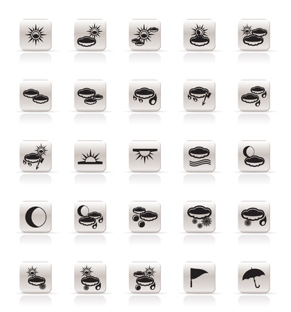 Simple Weather icons - Vector Icon Set Vector