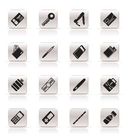 encendedores: Configuraci�n de iconos de objeto Vector simple - icono de vector