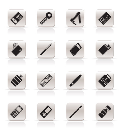 Simple Vector Object Icons - Vector Icon Set Stock Vector - 5221822