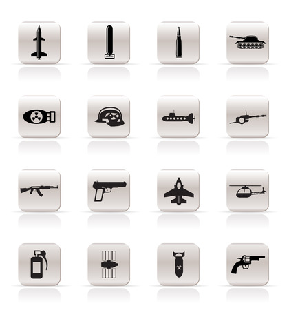 Simple weapon, arms and war icons - Vector icon set Stock Vector - 5221821